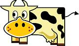 Cute Cow- vector
