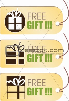 FREE Gift Tag- vector