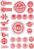 Collection of grunge & sale icon