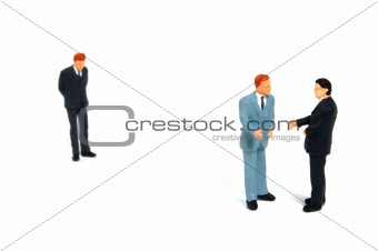 business people on white background