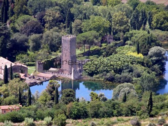 Top view of Gardino di Ninfa