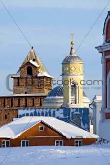 Old Tower and Belfry in winter