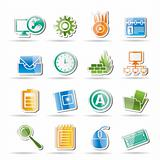 Computer, mobile phone and Internet icons