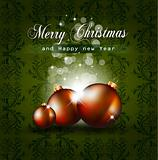 Colorful Vintage Christmas Baubles Background