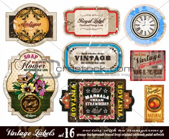 Vintage Labels Collection - Set 16