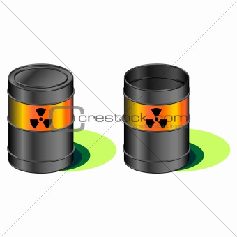 Radioactive barrels with leak