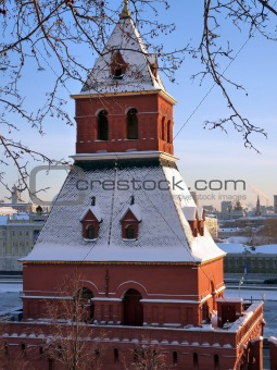 First Nameless Tower of Moscow Kremlin, Russia