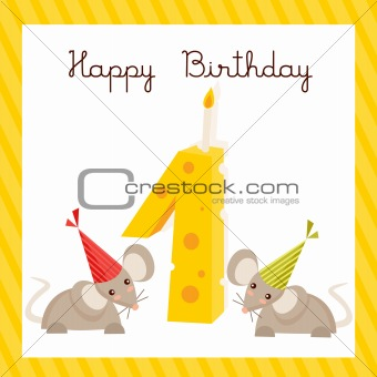 Happy First Birthday card