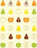 seamless pattern of fruit