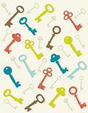 Colorful key background