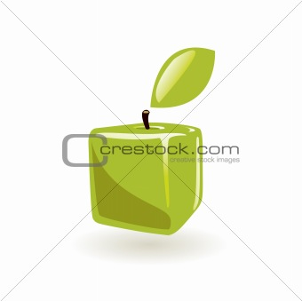 Green square apple