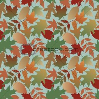 Autumn Leaves Gradient_Blue