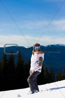 Young woman on ski vacation