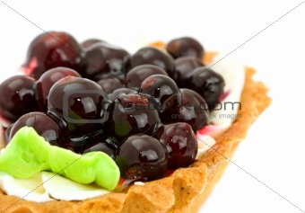Cake with Black Currant isolated on white