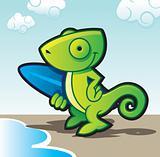 chameleon surfer