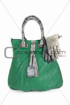 green women bag