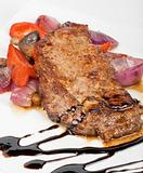 beef steak with vegetable