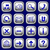 White square buttons with blue symbols.