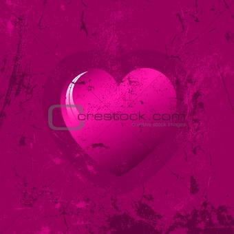 Grunge heart background