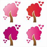 st. valentine's day trees