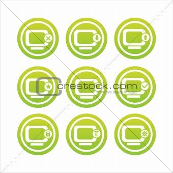 green monitor signs
