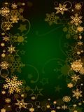 Snowflakes frame