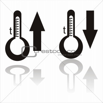 black temperature icons
