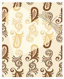 vector transparent heart with dragonfly on seamless paisley patt