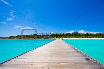 Maldives beach scene