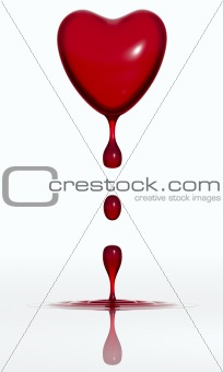 Blood dropping heart