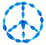 Peace symbol created of water