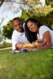 African-American family at the park