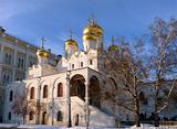 Christian Cathedral of Moscow Kremlin. Russia