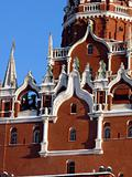Moscow Kremlin, Russia. A fragment of the facade