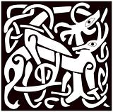 A vector illustration of a Celtic animal with a beautiful design, isolated on white background. Great for tattoo or artwork.