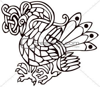 Celtic bird with knot design