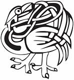 Celtic bird design