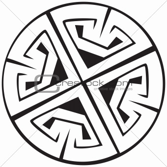 A vector illustration of a Celtic pattern and knots with a beautiful design, isolated on white background. Great for tattoo or artwork.