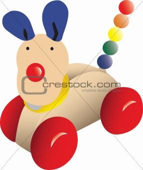 Push-along toy dog