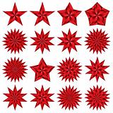 Red stars set