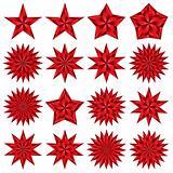 Red stars set