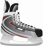 Illustrated ice hockey skate