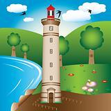 Lighthouse illustration