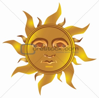Mayan Incan sun - Maya, vector