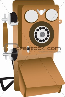 Old phone illustration