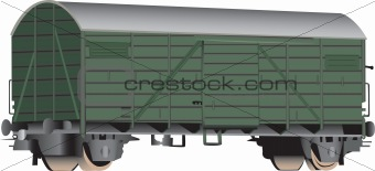 3D railroad boxcar