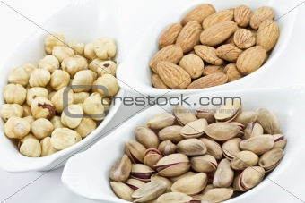 A variety of fresh mixed nuts