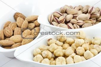 A variety of fresh mixed nuts