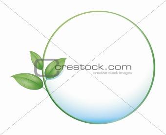green leaf circle