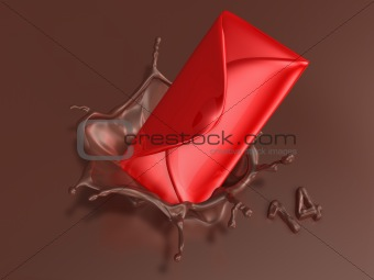 valentine chocolate 3d art